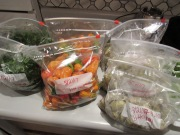 Ayetonia.com...... In this picture Cut watergreens veggies, steamed bitterboy veggies, and Herbaneros peppers
