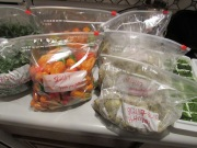 Steamed Bitterboy Veggies, Herbaneros Peppers ready to be freeze