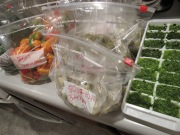 ayetonia.com In this picture: Dill Herbs in the ice tray, steamed bitterboy veggies and herbaneros peppers